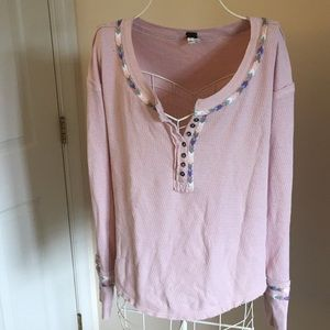 Free people we the Free thermal Tee size L